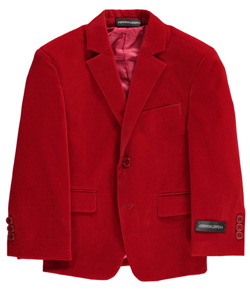 "Kids World Big Boys' ""Velour Touch"" Sportcoat (Sizes 8 – 20) - CookiesKids.com"