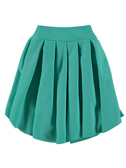 "Kids' World Big Girls' ""Pleat Perfection"" Skirt (Sizes 7 – 16) - CookiesKids.com"