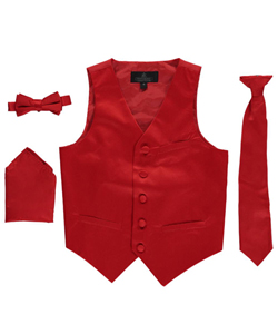 Vittorino Little Boys' 4-Piece Vest & Accessories Set (Sizes 4 – 7) - CookiesKids.com