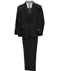 "Kids World Little Boys' ""Lined Herringbone"" 5-Piece Suit (Sizes 4 – 7) - CookiesKids.com"