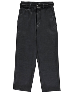 Vittorino Big Boys' Flat Front Belted Dress Pants (Sizes 8 – 20) - CookiesKids.com