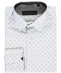 "Kids World Big Boys' ""Dots on Dots"" Dress Shirt (Sizes 8 – 20) - CookiesKids.com"