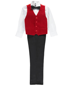"Kids World Big Boys' ""Aces High"" 4-Piece Vest Set (Sizes 8 – 20) - CookiesKids.com"