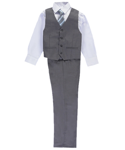 "Kids World Big Boys' ""Harlington"" 4-Piece Vest Set (Sizes 8 – 20) - CookiesKids.com"
