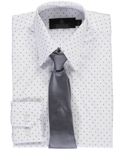 "Vittorino Little Boys' ""Dotted"" Dress Shirt with Tie (Sizes 4 – 7) - CookiesKids.com"