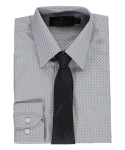 "Vittorino Big Boys' ""Two-Tone"" Dress Shirt with Tie (Sizes 8 – 20) - CookiesKids.com"