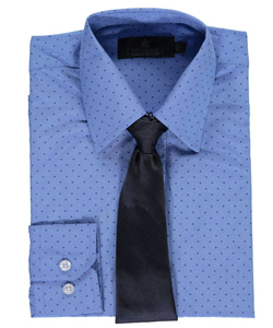 "Vittorino Big Boys' ""Dotted"" Dress Shirt with Tie (Sizes 8 – 20) - CookiesKids.com"