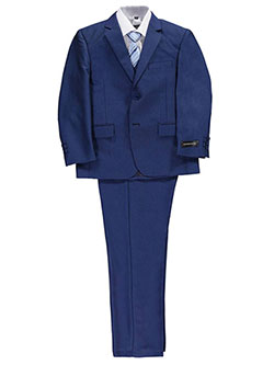 "Kids World Big Boys' ""Diamond Texture"" 5-Piece Suit (Sizes 8 – 20) - CookiesKids.com"