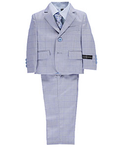 "Kids World Baby Boys' ""Plaid Waves"" 5-Piece Suit - CookiesKids.com"