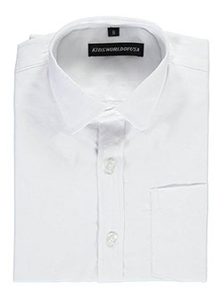 "Kids World Little Boys' ""Textured Paisley"" Dress Shirt (Sizes 4 – 7) - CookiesKids.com"