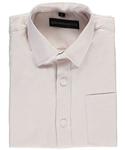 "Kids World Big Boys' ""Holographic Stripe"" Dress Shirt (Sizes 8 – 20) - CookiesKids.com"