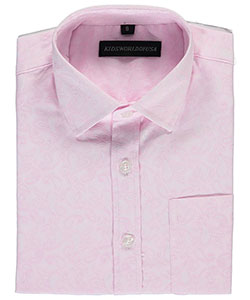 "Kids World Big Boys' ""Softened Paisley"" Dress Shirt (Sizes 8 – 20) - CookiesKids.com"