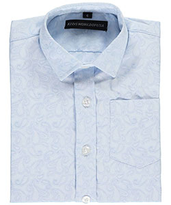 "Kids World Big Boys' ""Baby Paisley"" Dress Shirt (Sizes 8 – 20) - CookiesKids.com"