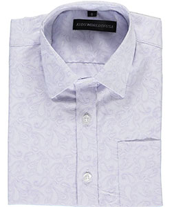"Kids World Big Boys' ""Luxe Paisley"" Dress Shirt (Sizes 8 – 20) - CookiesKids.com"