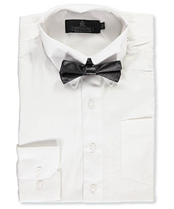 Vittorino Big Boys' Dress Shirt with Bowtie (Sizes 8 – 20) - CookiesKids.com