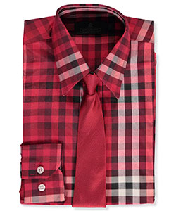 Vittorino Big Boys' Dress Shirt with Tie (Sizes 8 – 20) - CookiesKids.com