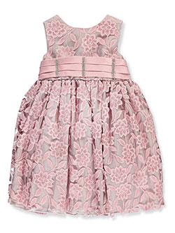 Pink Butterfly Baby Girls' Dress - CookiesKids.com