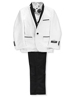 Kids World Big Boys' 5-Piece Tuxedo (Sizes 8 – 20) - CookiesKids.com