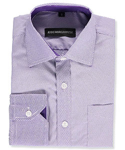 Kids World Big Boys' Dress Shirt (Sizes 8 – 20) - CookiesKids.com