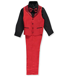 Kids World Big Boys' 4-Piece Vest Set (Sizes 8 – 20) - CookiesKids.com