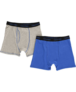 Calvin Klein Big Boys' 2-Pack Boxer Briefs (Sizes 8 - 18) - CookiesKids.com