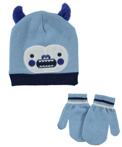 "Polar Wear Baby Boys' ""Chompy Monster"" Beanie & Mittens Set - CookiesKids.com"