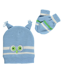 "Polar Wear Baby Boys' ""Winter Bird"" Beanie & Mittens Set - CookiesKids.com"