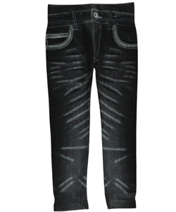 "Crush Little Girls' Toddler ""Whiskered & Bejeweled Line"" Jeggings (Sizes 2T – 4T) - CookiesKids.com"