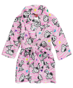"Peanuts Little Girls' ""Snoopy Hearts"" Robe (Sizes 4 – 6X) - CookiesKids.com"