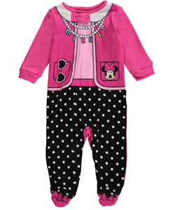 "Minnie Mouse Baby Girls' ""Minnie Outfit"" Coverall - CookiesKids.com"