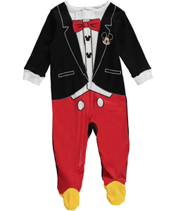 "Mickey Mouse Baby Boys' ""Mickey Tux"" Coverall - CookiesKids.com"