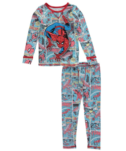 "Cuddl Duds Little Boys' Toddler ""Spider-Man Webcrawler"" 2-Piece Long Underwear Set (Sizes 2T – 4T) - CookiesKids.com"