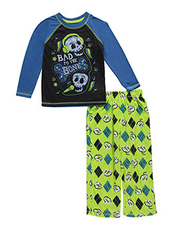 "Komar Kids Big Boys' ""Bad to the Bone"" 2-Piece Pajamas (Sizes 8 – 20) - CookiesKids.com"