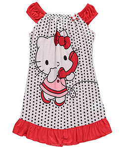 "Hello Kitty Big Girls' ""Goodnight Kitty"" Nightgown (Sizes 7 – 16) - CookiesKids.com"