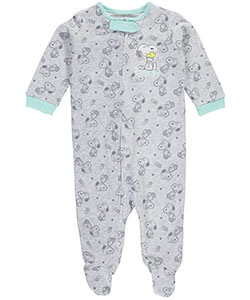 "Peanuts Baby Boys' ""Hugs"" Footed Coverall - CookiesKids.com"