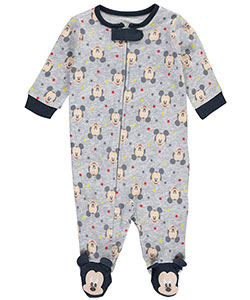 "Mickey Mouse Baby Boys' ""Mickey Face Medley"" Footed Coverall - CookiesKids.com"
