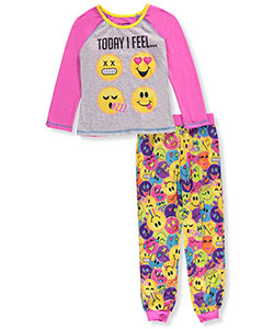 Emojination Little Girls' 2-Piece Pajamas (Sizes 4 – 6X) - CookiesKids.com