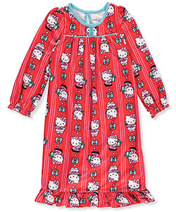 Hello Kitty Little Girls' Toddler L/S Nightgown (Sizes 2T – 4T) - CookiesKids.com