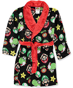 Super Mario Brothers Big Boys' Plush Robe (Sizes 8 – 20) - CookiesKids.com