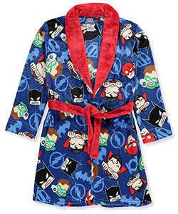 Justice League Big Boys' Plush Robe (Sizes 8 – 20) - CookiesKids.com