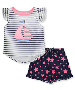 Nautica Girls' 2-Piece Pajamas - CookiesKids.com