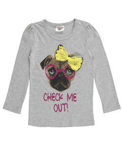 "Beautees Little Girls' ""Check Me Out!"" Top (Sizes 4 – 6X) - CookiesKids.com"