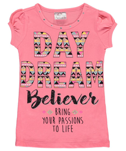 "Beautees Little Girls' ""Day Dream Believer"" Top (Sizes 4 – 6X) - CookiesKids.com"