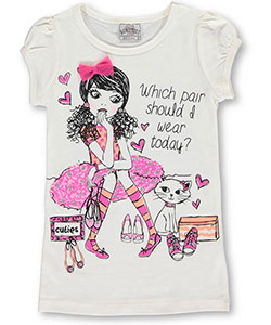 "Beautees Little Girls' ""Which Pair?"" T-Shirt (Sizes 4 – 6X) - CookiesKids.com"