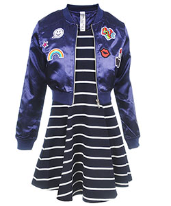 "Beautees Big Girls' ""Rainbow Flight"" 3-Piece Dress Set (Sizes 7 – 16) - CookiesKids.com"
