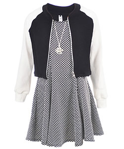 "Beautees Big Girls' ""Mod Night"" 3-Piece Dress Set (Sizes 7 – 16) - CookiesKids.com"