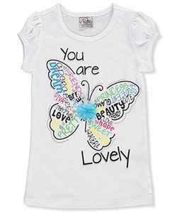 "Beautees Little Girls' ""You Are Lovely"" T-Shirt (Sizes 4 – 6X) - CookiesKids.com"
