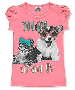 "Beautees Little Girls' ""Sit with Us"" T-Shirt (Sizes 4 – 6X) - CookiesKids.com"