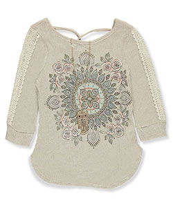 Beautees Big Girls' Top with Necklace (Sizes 7 – 16) - CookiesKids.com