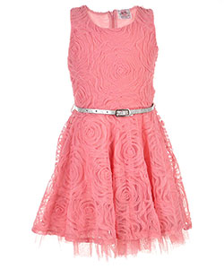 Beautees Little Girls' Belted Dress (Sizes 4 – 6X) - CookiesKids.com